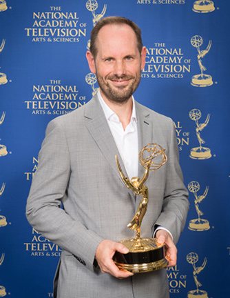 Simon Russell, composer for 'Pussy Riot: A Punk Prayer' - winner of OUTSTANDING MUSIC & SOUND at The 35th Annual News and Documentary Emmys Awards, 30th September 2014